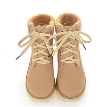 Load image into Gallery viewer, Women Ankle Boots Lace Up Artificial Suede Winter Platform Shoes Woman 2016 3554