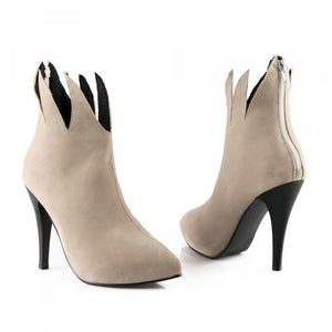 Pointed Toe Ankle Boots High Heels Stiletto Heel Shoes Woman 3329