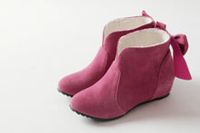Load image into Gallery viewer, Back Bow Ankle Boots Wedges Women Shoes Fall|Winter 2367