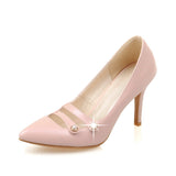 Pointed Toe Womens Stiletto High Heel Ladies Pumps Party Shoes