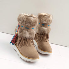 Load image into Gallery viewer, Tassel Women Snow Boots with Fur Winter Platform Shoes Woman 2016 3481