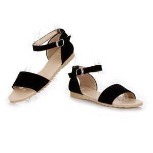 Fashion Flats Sandals Ankle Straps Women Shoes 7651