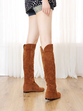 Load image into Gallery viewer, Wedges Knee High Boots Artificial Suede Shoes Woman 3305 3305