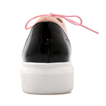 Load image into Gallery viewer, Round Toe Casual Women Patent Leather Platform Shoes