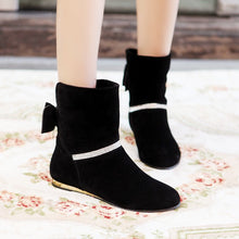 Load image into Gallery viewer, Back Bowtie Women Ankle Boots Shoes Woman 2016 3379