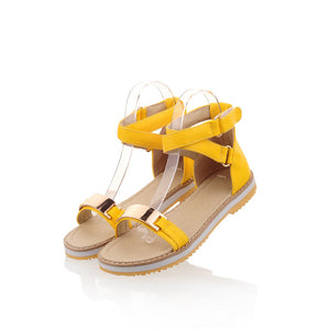 Metal-Flats-Sandals-Women-Shoes 5904