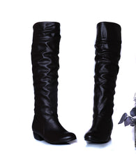Load image into Gallery viewer, Knee High Boots PU Leather Rubber Sole Women Shoes