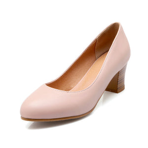 PU Leather Women Pumps High Heels Shoes Woman