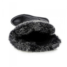 Load image into Gallery viewer, Rabbit Fur Snow Boots Zipper Winter Women Shoes