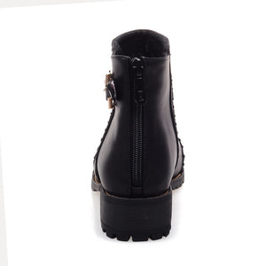 Cool Buckle Ankle Boots Women Shoes Fall|Winter 1866