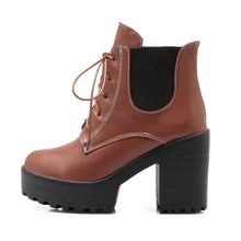 Load image into Gallery viewer, Lace Up Ankle Boots High Heels Women Shoes Fall|Winter 3671