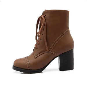 Lace Up Ankle Boots High Heels Women Shoes Fall|Winter 6780