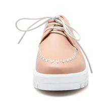Load image into Gallery viewer, Lace Up Women Loafers Casual Platform Shoes