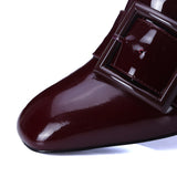 Genuine Leather Women's Pumps High Heels Dress Shoes
