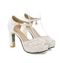 Load image into Gallery viewer, Ankle Straps Lace Platform Sandals High Heels Shoes 5638