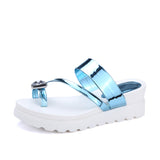 Women Sandals Toe Strap Platform Slipper Shoes