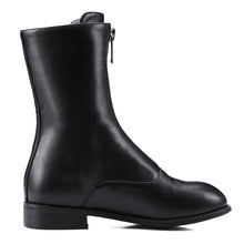 Load image into Gallery viewer, Zipper Mid Calf Boots Low Heel Motorcycle Boots Women Shoes 76014808