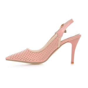 Pointed Toe Sandals Pumps Sexy Stiletto Heel High-heeled Shoes Woman