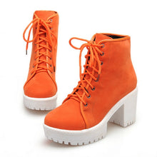Load image into Gallery viewer, Women Ankle Boots Platform Lace Up High Heels Shoes Woman 2016 3491