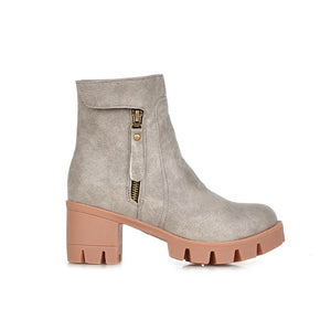 Zipper Ankle Boots Women Shoes Fall|Winter 11191501