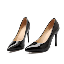 Load image into Gallery viewer, Rhinestone Pumps Patent Leather High Heels Stiletto Heel Shoes Woman