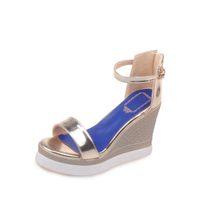 Ankle Straps Wedges Sandals Women Platform Shoes Woman