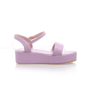 Fashion Ankle Straps Sandals Platform Shoes 5179