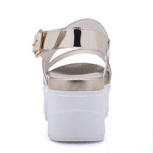 Load image into Gallery viewer, Buckle Wedges Sandals Women Platform Shoes Woman