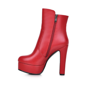 Zipper High Heels Boots Women Shoes Fall|Winter 4734