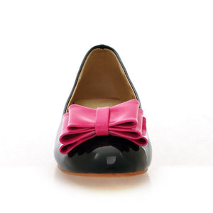 Women Flat Shoes with Bow 5877