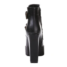 Load image into Gallery viewer, Buckle Chunky Heel Pumps Ankle Boots High Heels Women Shoes 6306