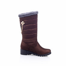 Load image into Gallery viewer, Fashion Women Knee High Boots for Autumn and Winter New Arrive Rhinestone Mid Calf 4470