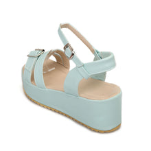 Load image into Gallery viewer, Ankle-Straps-Wedges-Sandals-Women-Pumps-Platform-Shoes 7409