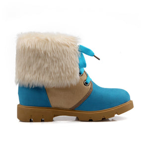 Lace Up Snow Boots with Lamb Wool Ankle Boots New 2016 5944