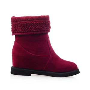 Wool Wedges Boots Women Shoes Fall|Winter 7381
