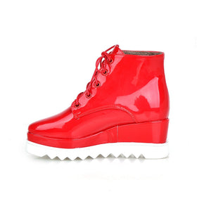 Lace Up Platform Shoes Wedges Women Shoes Fall|Winter 6898