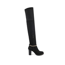 Load image into Gallery viewer, Chains Over the Knee Boots High Heels Women Shoes Fall|Winter 1604