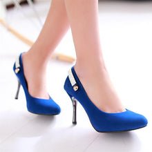 Load image into Gallery viewer, Pointed Toe Rhinestone Pumps High Heels Shoes Woman