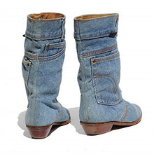 Load image into Gallery viewer, Women's Denim Mid Calf Boots
