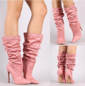 Women's Mid Calf Boots High Heel