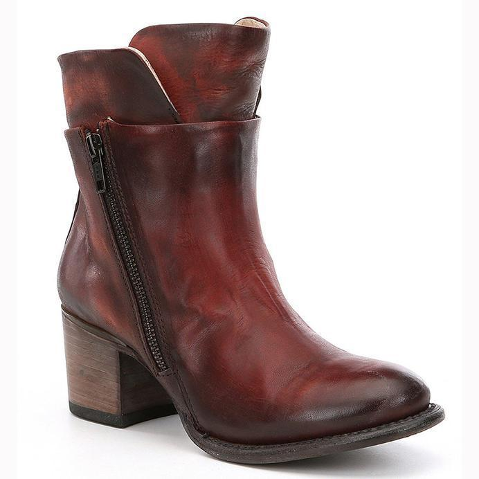 Women's Chunky High-heeled Ankle Motorbike Boots