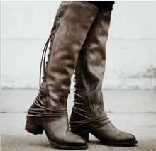 Load image into Gallery viewer, Tassels Straps Women's Knight Boots