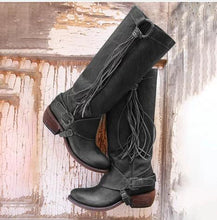 Load image into Gallery viewer, Tassel Women's Knight Boots