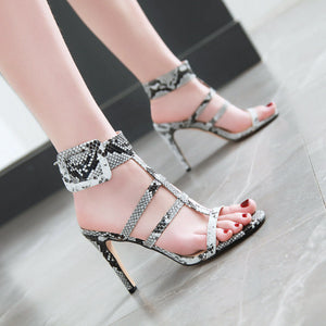 Women's Hollow Out Super High Heel Stiletto Heel Sandals