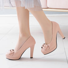Load image into Gallery viewer, Bow Tie High Heels Platform Pumps