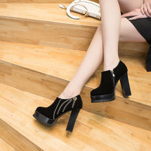 Load image into Gallery viewer, Super High Heel Thick Heel Studded Platform Shoes