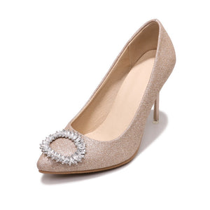 Sexy High Heel Shallow Mouth Rhinestone Pumps Wedding Shoes