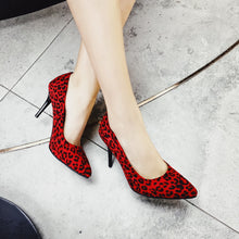 Load image into Gallery viewer, Stiletto High Heel Shallow Mouth Leopard Print Women Pumps