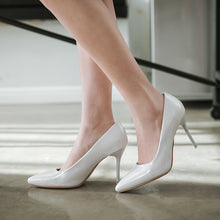 Load image into Gallery viewer, Pointed Toe High Heel Shallow Mouth Stiletto Heels Pumps