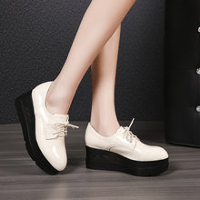 Load image into Gallery viewer, Women's Loafer Platform Flat Shoes